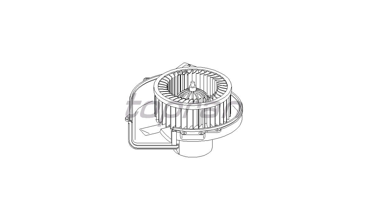 Blæsermotor, varmeapparat - (Topran)