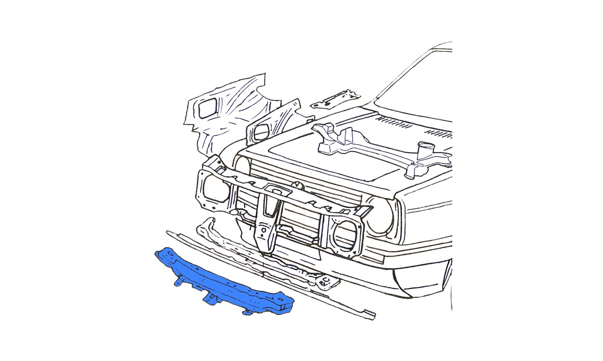 Vange under radiator Golf II 8/83-91