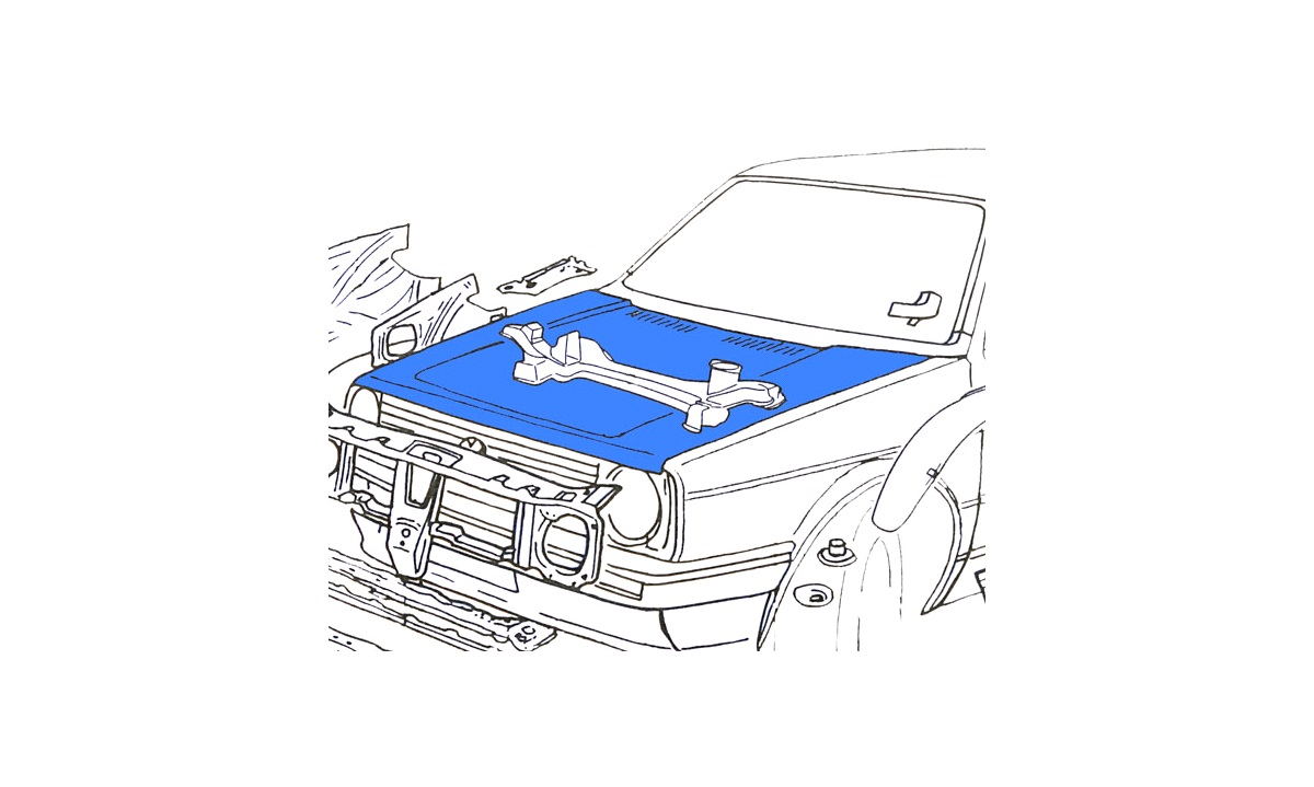 Gasfjeder, motorhjelm - 953403-1 Polcar