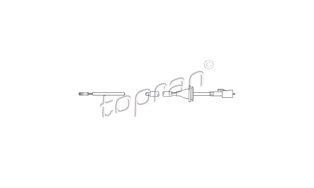 Speedometeraksel/kabel - (Topran)