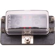 Sikringsboks 4 sikringer m LED indikator
