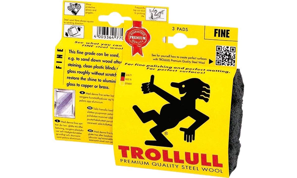 TROLLULL Ståluld 3 x pads Grade 00 DIY