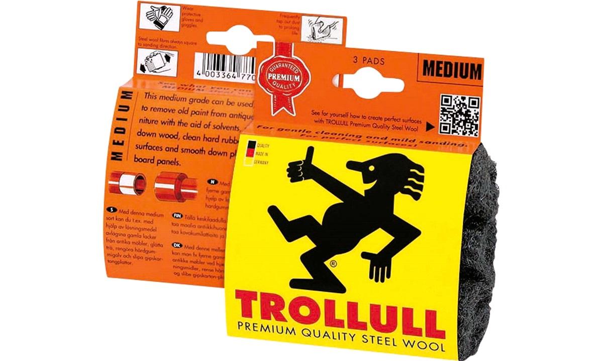 TROLLULL Ståluld 3 x pads Grade 1 DIY