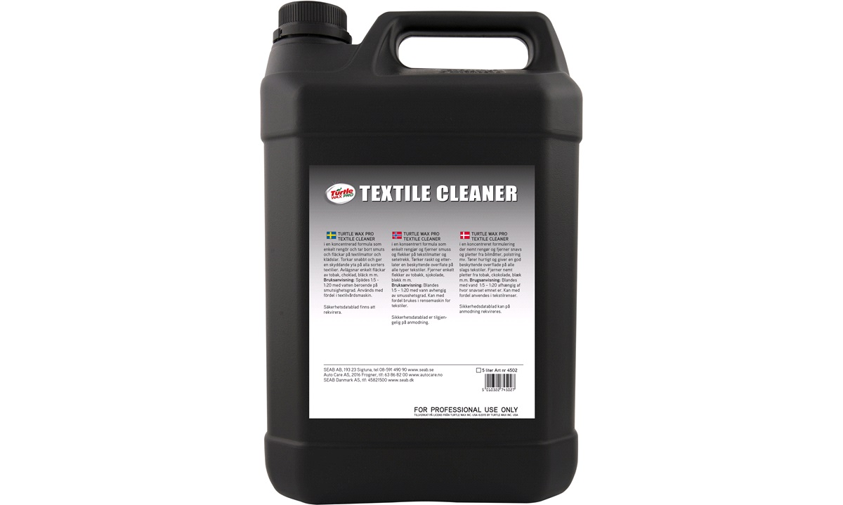 TurtleWax Tekstil Cleaner 5 ltr.