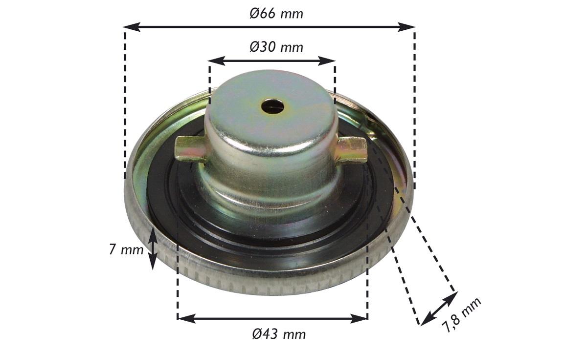 Tankdæksel, standard, K50
