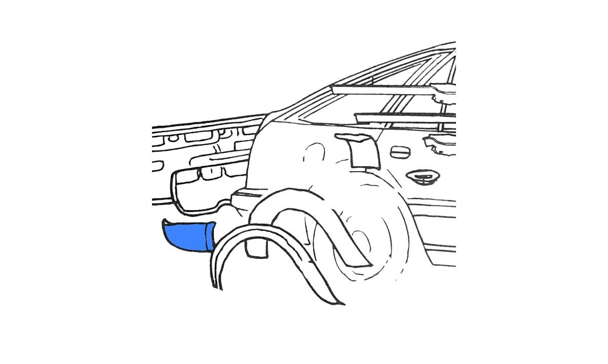 Bagskærm / Karrosseriside