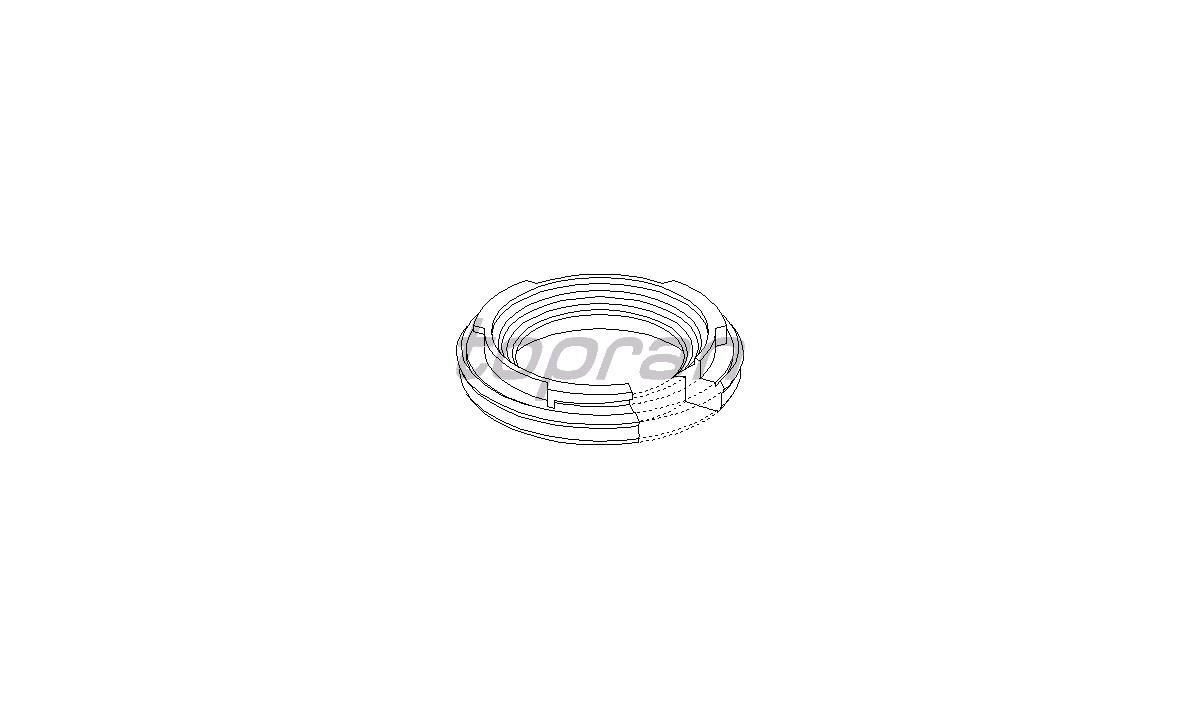 Pakdåse, krumtapaksel - (Topran)