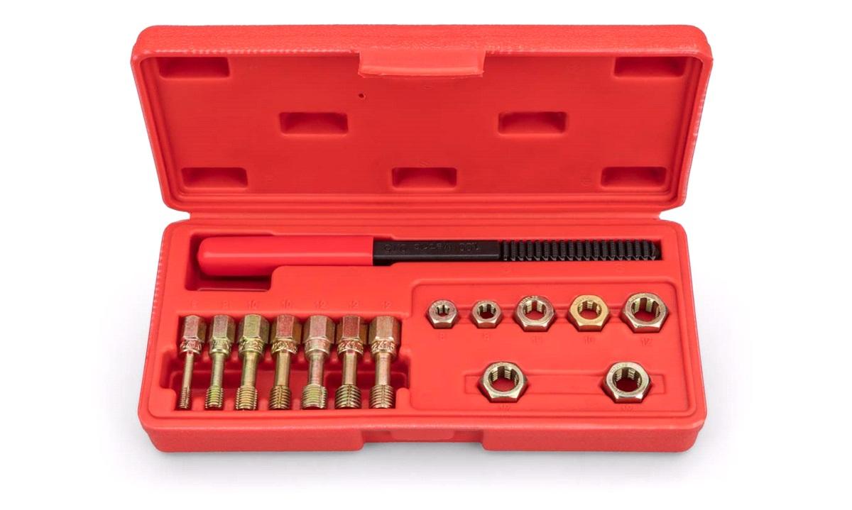 15 dele gevindreparationssæt 6-12 mm