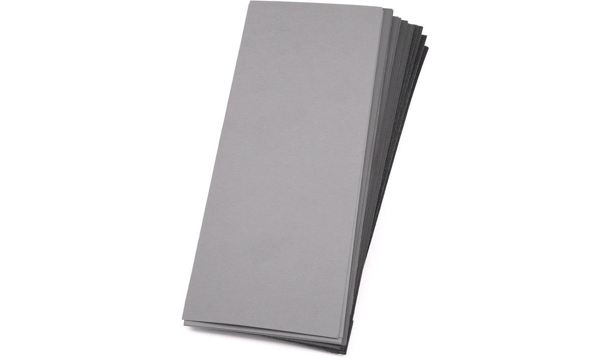 Våbslibepapir sæt 42 ark 9x22,5 cm
