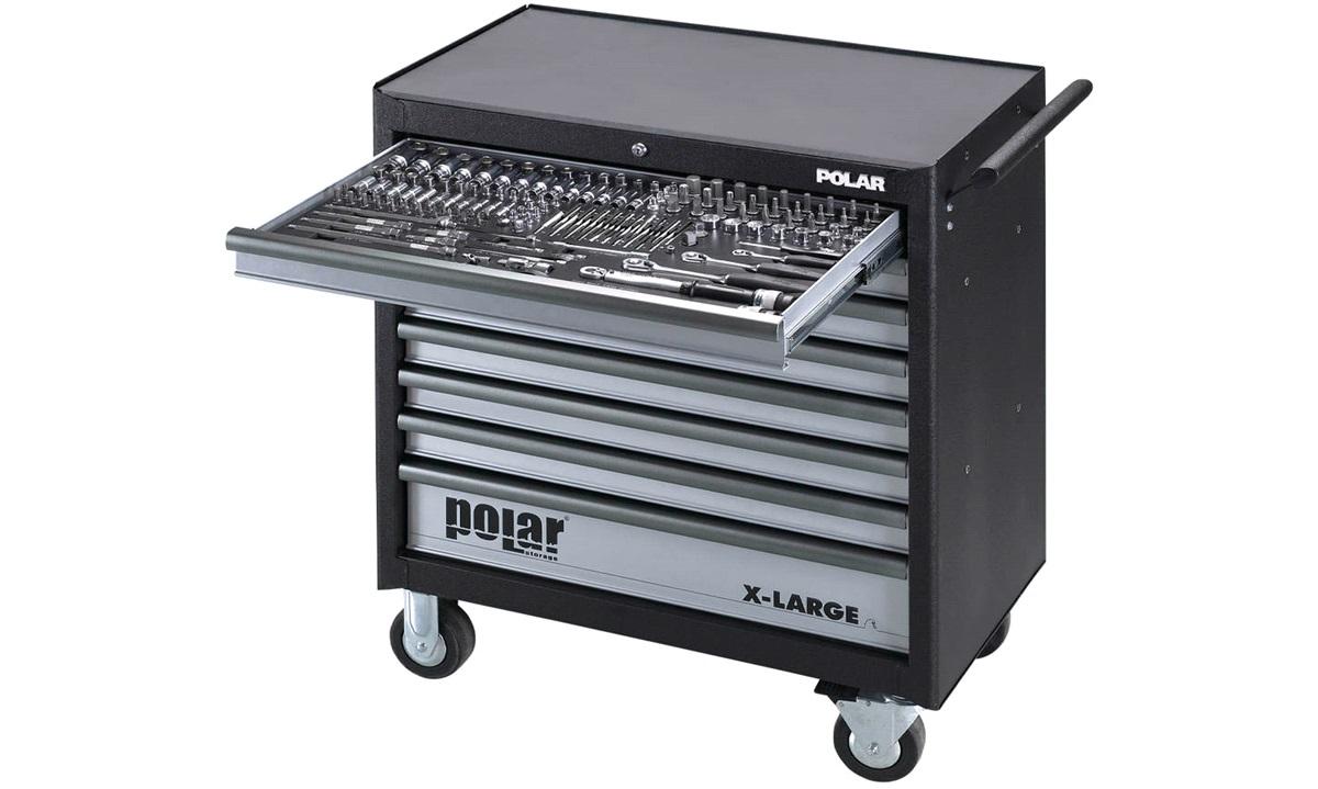 Værkstedsvogn Polar XL 8D m/470 dele