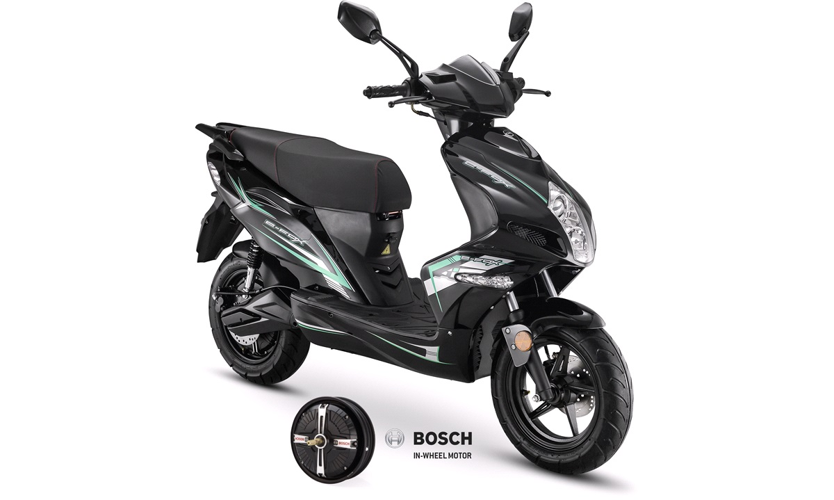 VGA e-Fox 45 km/t sort BOSCH EL-scooter