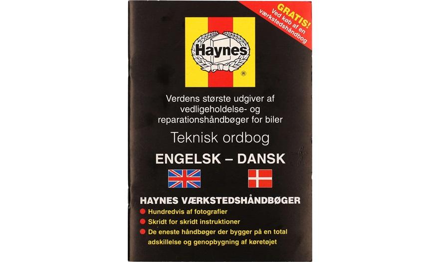 Dansk/Engelsk Ordbog Haynes - Reservedele - thansen.dk