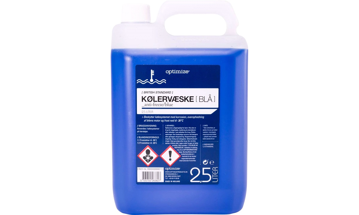 Kølervæske, blå, 2,5 liter