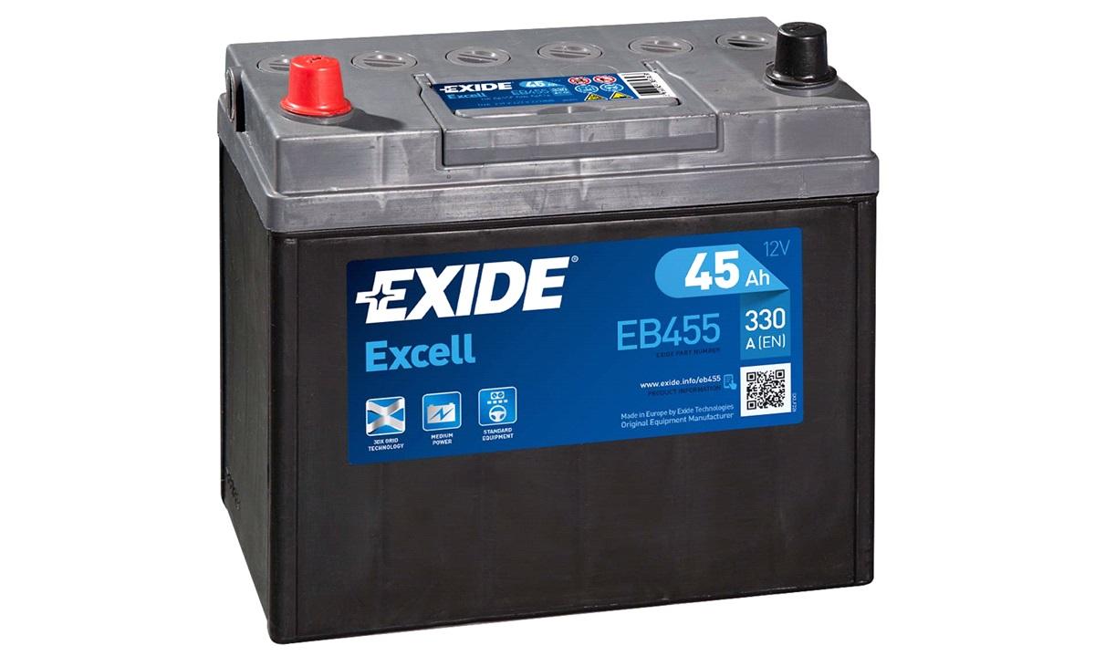 Startbatteri - _EB455 - EXCELL ** - (Exide)