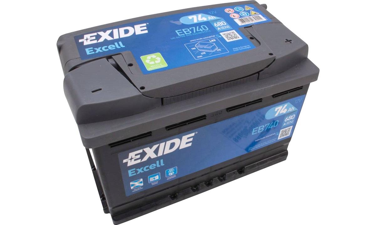 Startbatteri - _EB740 - EXCELL ** - (Exide)