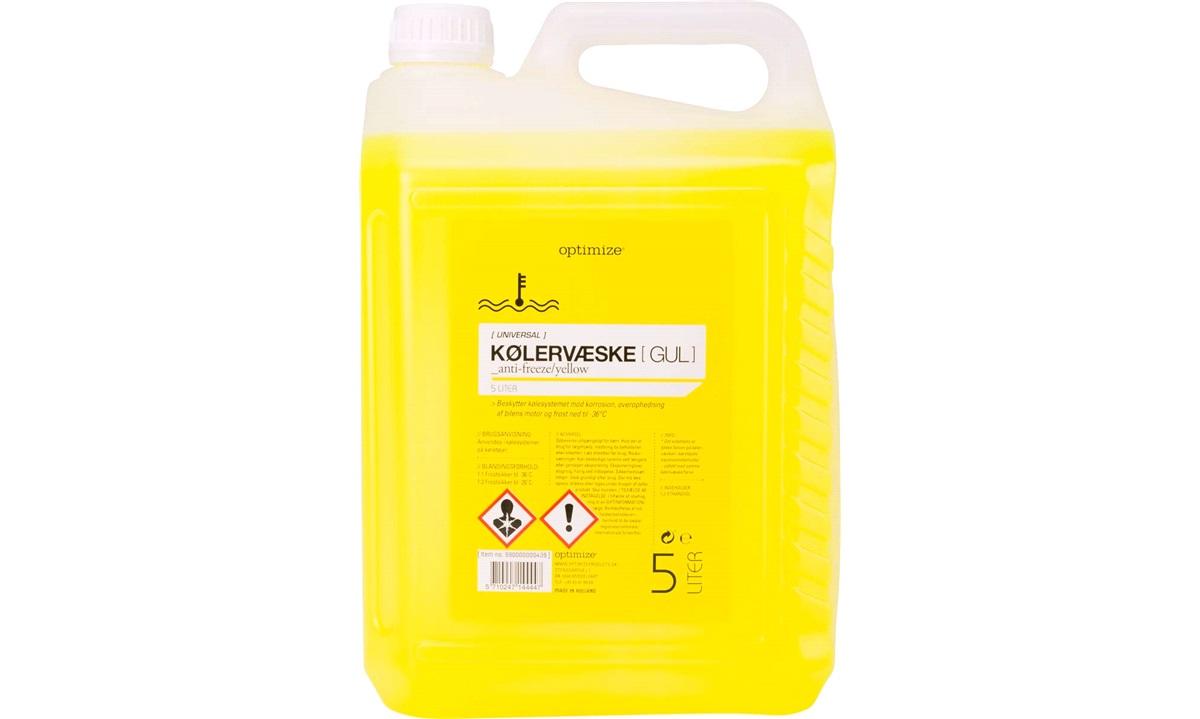 Kølervæske Gul 5 liters