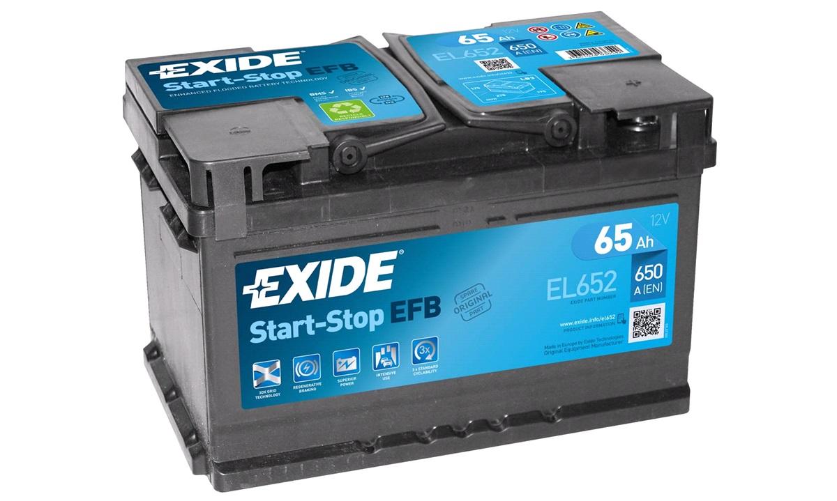 Startbatteri - EL652 - Start-Stop EFB - (Exide)