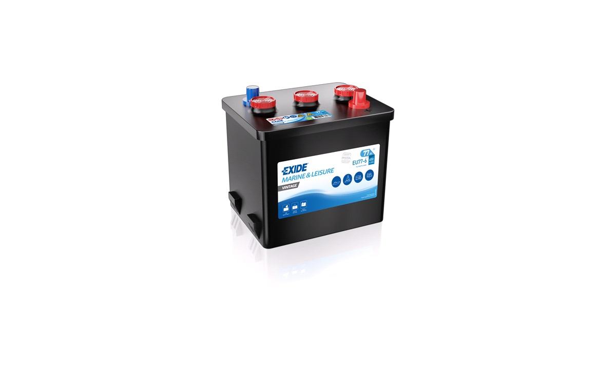 Batteri EU77-6 - Exide EU77-6 - 77 Ah