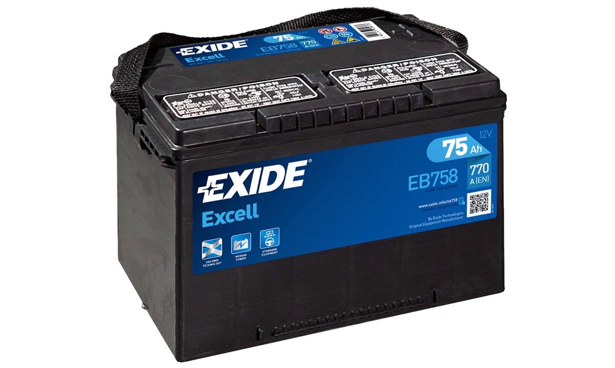 Startbatteri - _EB758 - EXCELL ** - (Exide)