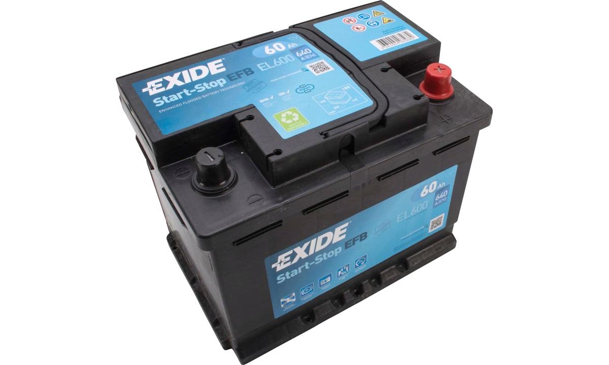 Startbatteri - EL600 - Start-Stop EFB - (Exide)