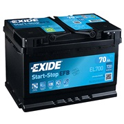 Batteri - EL700 - Start-Stop EFB - (Exid