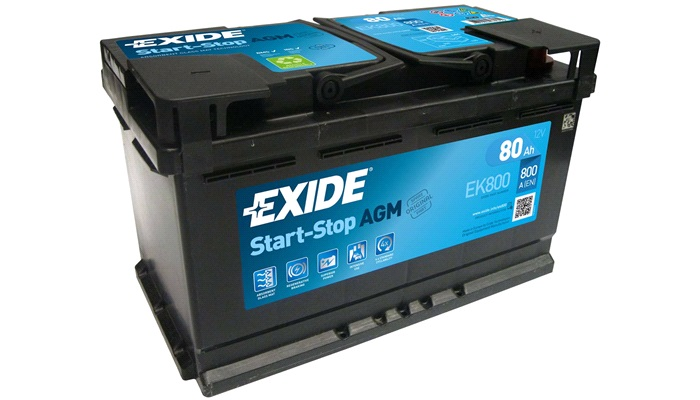 Batteri EK800 - Exide MicroHybrid - 80 Ah - Batterier AGM/GEL - thansen.dk