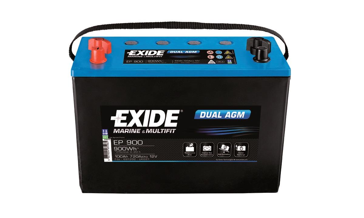 Batteri Exide 12V-100Ah EP900 DUAL AGM