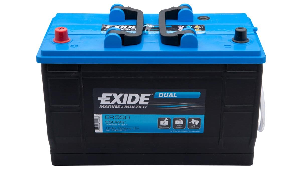 Batteri Exide 12V-115Ah ER550 DUAL