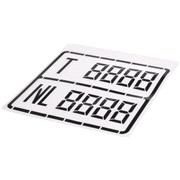 Vægttavler m/sort tryk N/L til varevogne