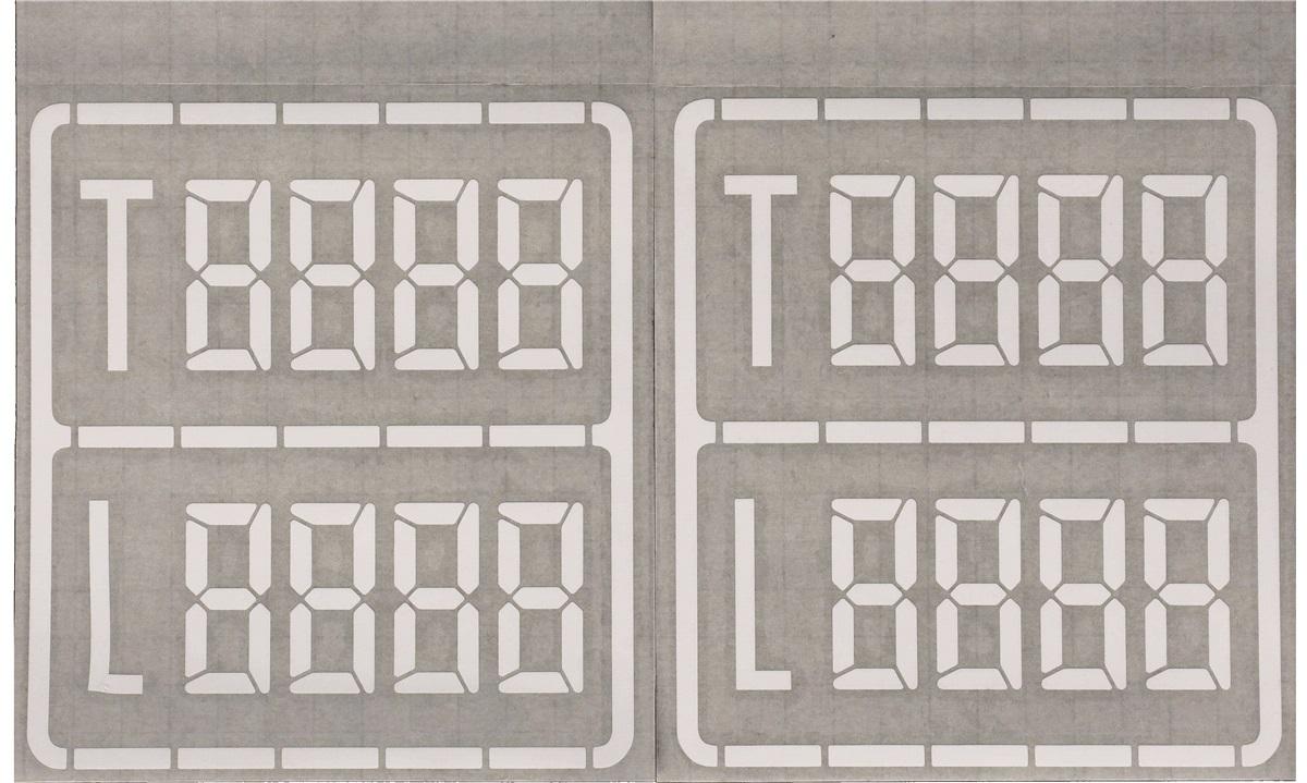 Vægttavle m/hvidt tryk til varevogne