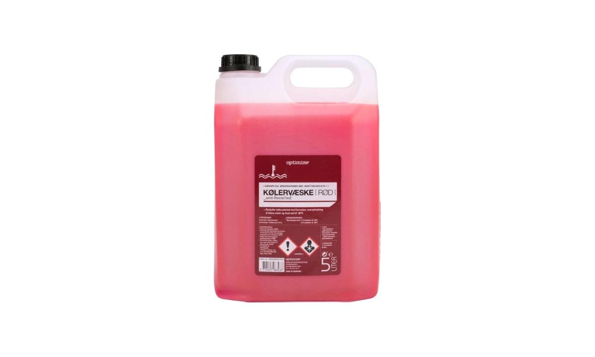 Optimize kølervæske 5 liter RØD (G12++)
