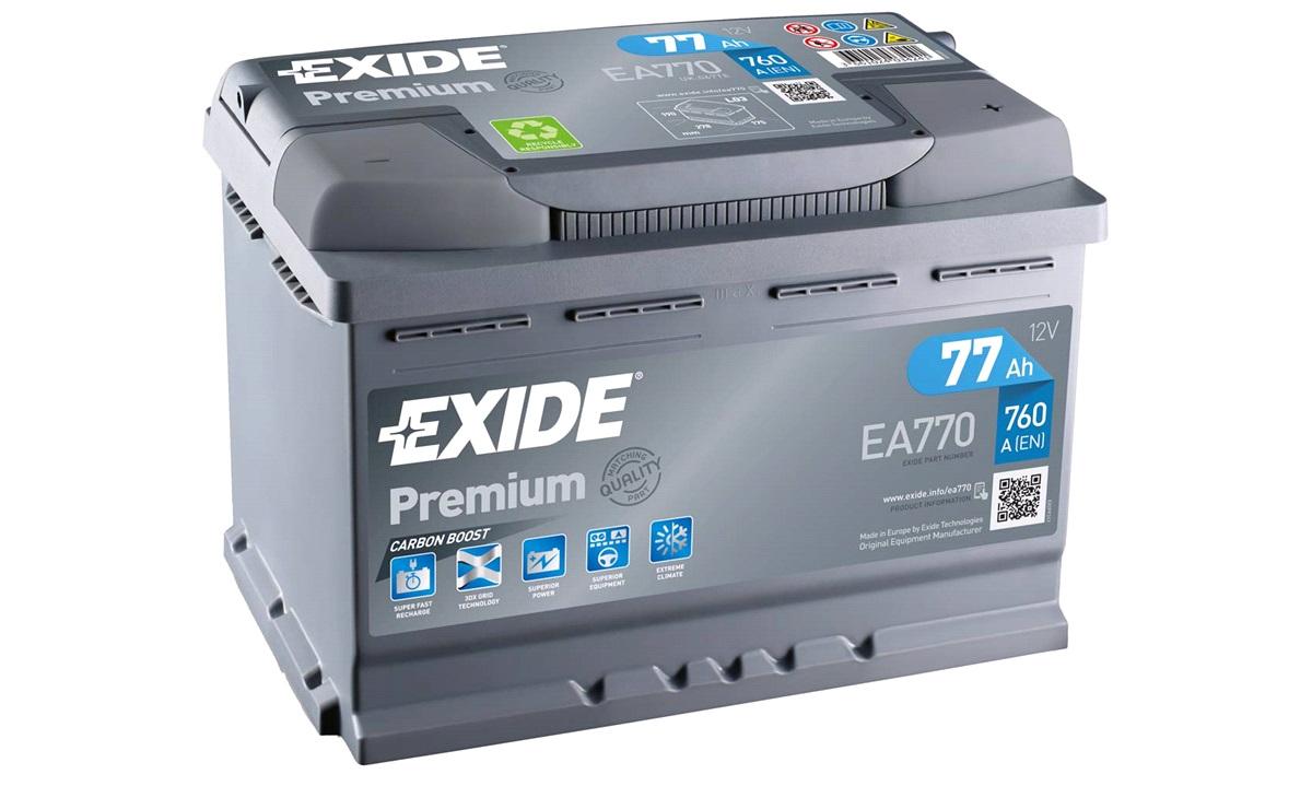 Startbatteri - EA770 - PREMIUM * - (Exide)