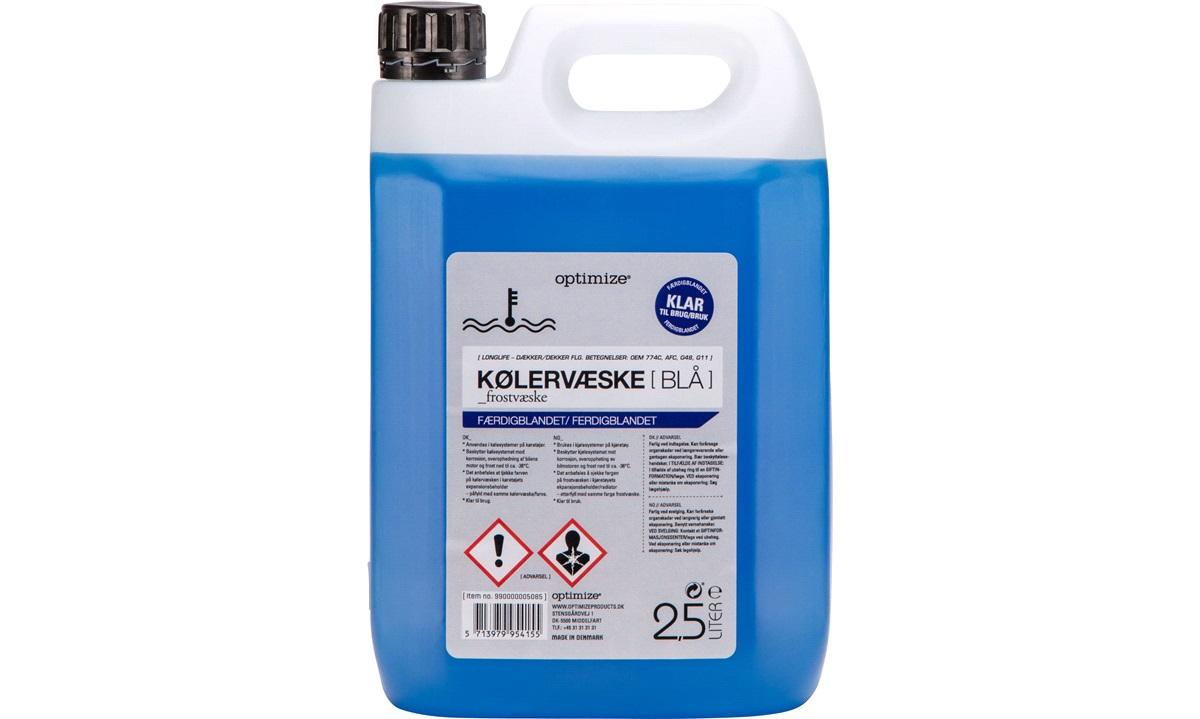 Kølervæske - BLÅ - klar til brug, 2,5 L