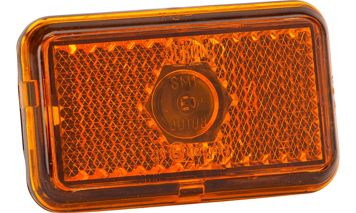 Markeringslygte gul flad 74x45x22,5mm