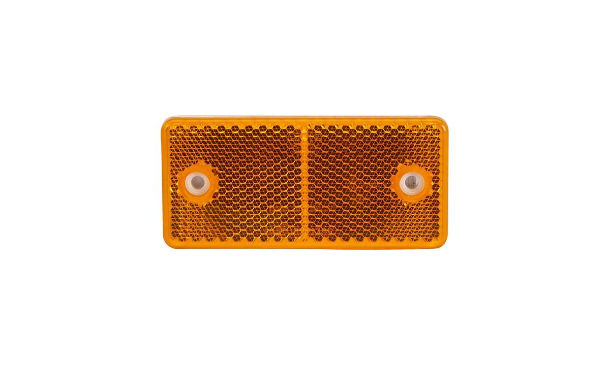 Refleks med hul 94x44mm orange
