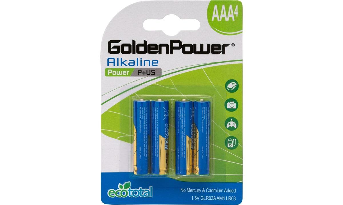 Alkaline batteri AAA LR03 4-pak
