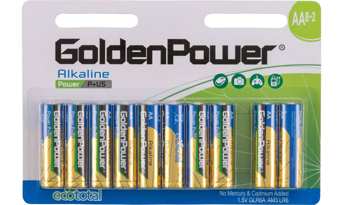 Alkaline batteri AA LR6 10-pak