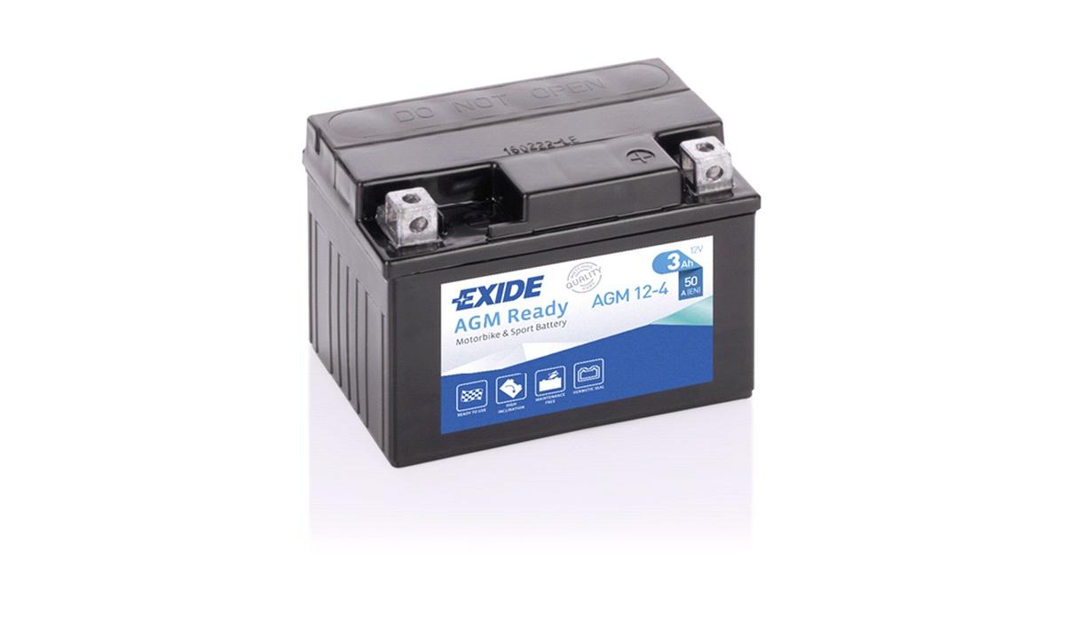 Exide batteri 12V-3Ah, DR500 82-84