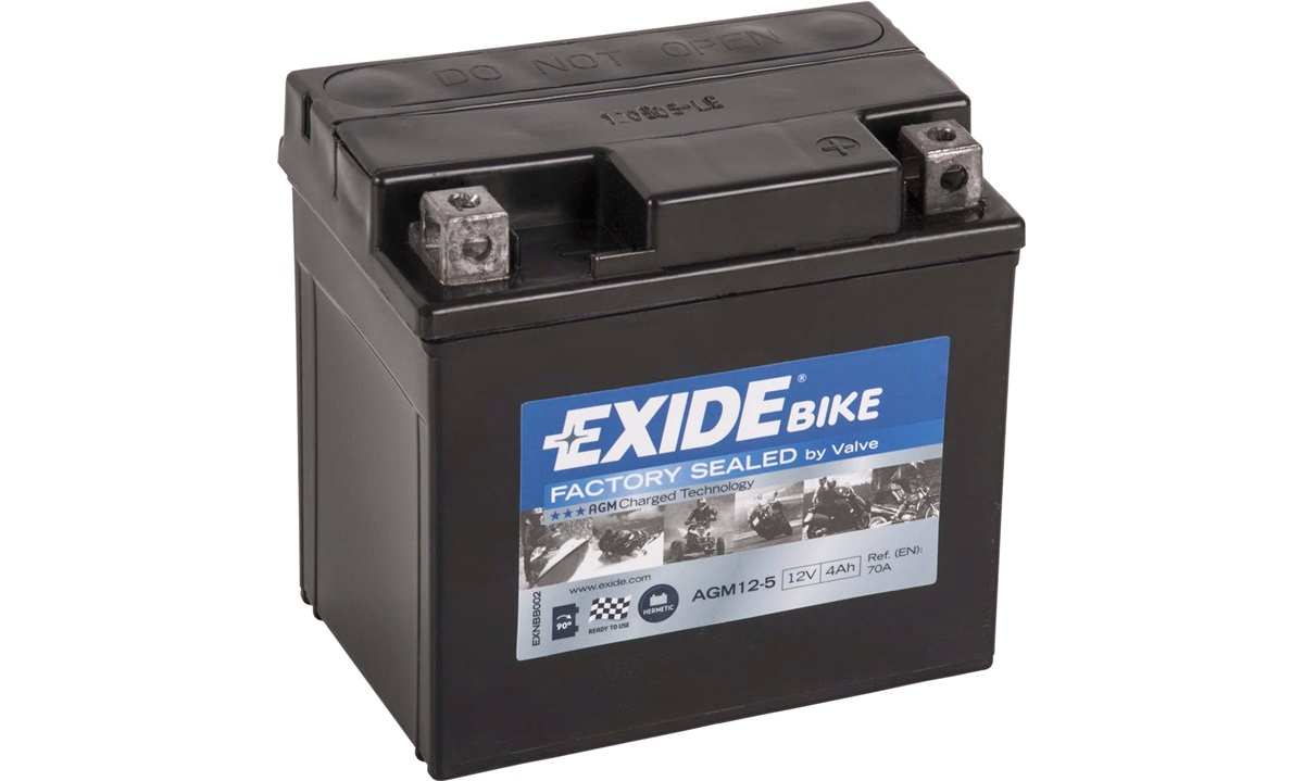 Batteri Exide 12V-4Ah AGM12-5 Ready
