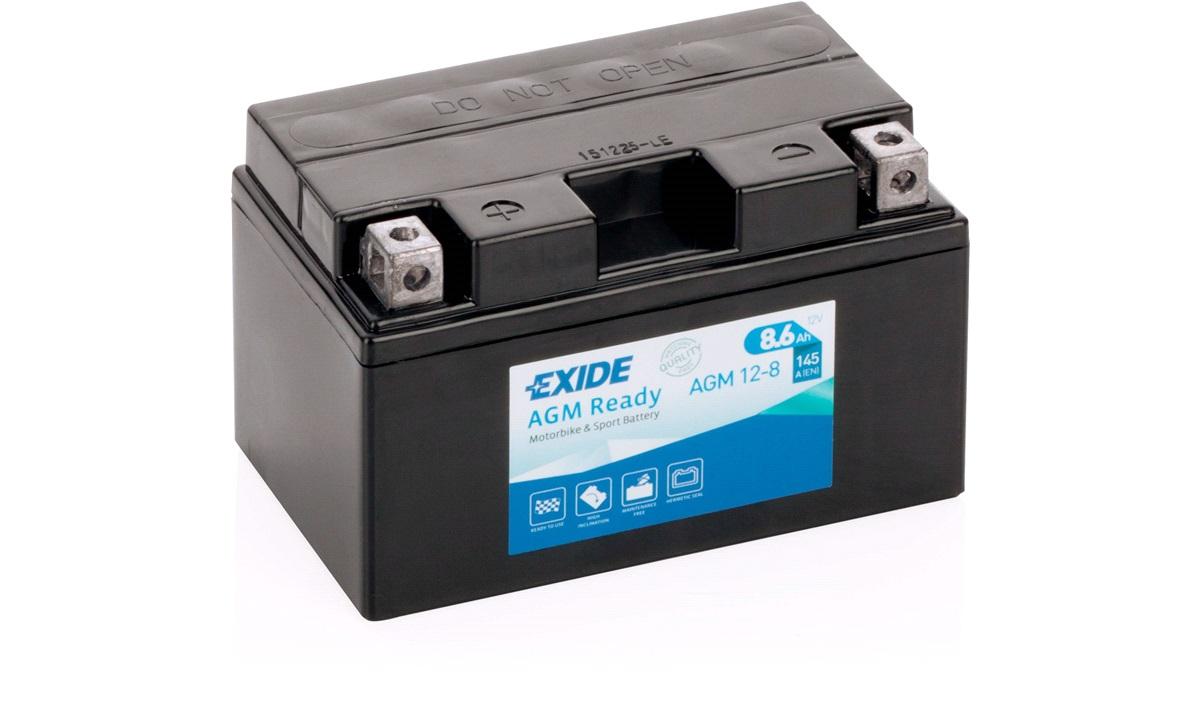 Exide batteri AGM 12-8 12V-8,6Ah