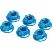 Møtriksæt 6stk blå 6mm