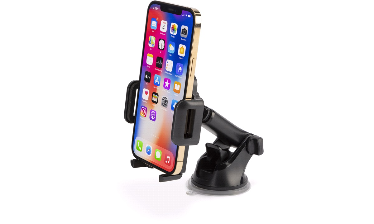 Mobilholder med arm til dashbord