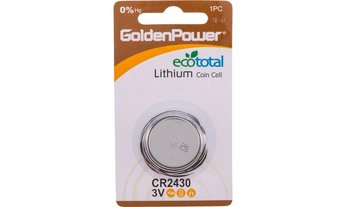 Berömda Lithium knapcellebatteri, CR2430 - Lithium knap batterier - thansen.dk IG-51