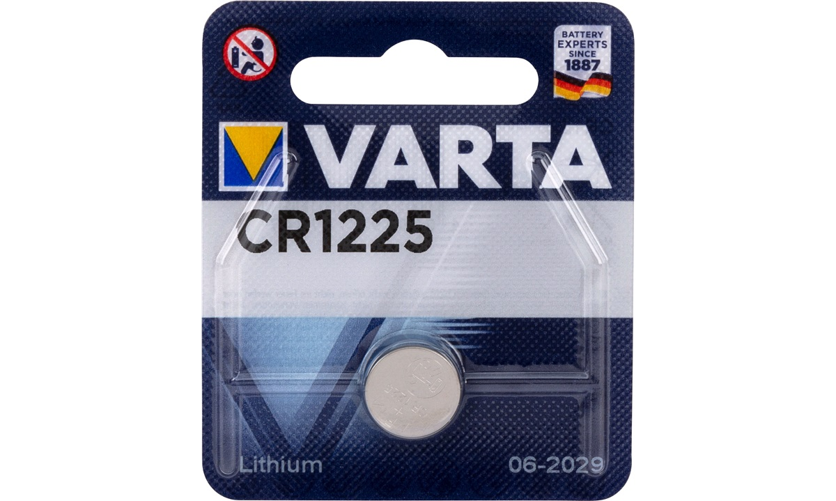 Lithium knapcellebatteri, CR1225