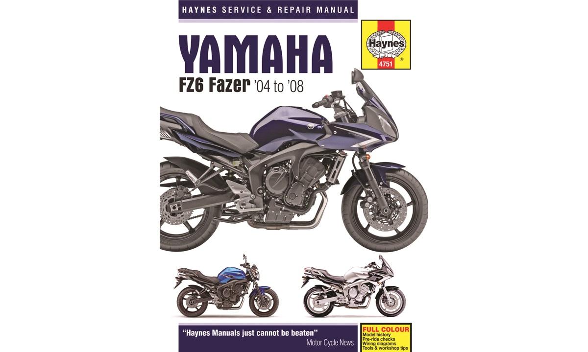 Værkstedshåndbog, Yamaha FZ6 Fazer 04-08