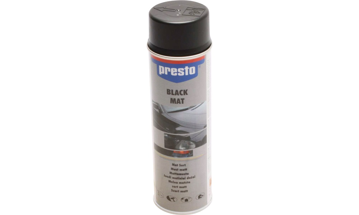 Spraymaling, matsort, acryl, 500 ml