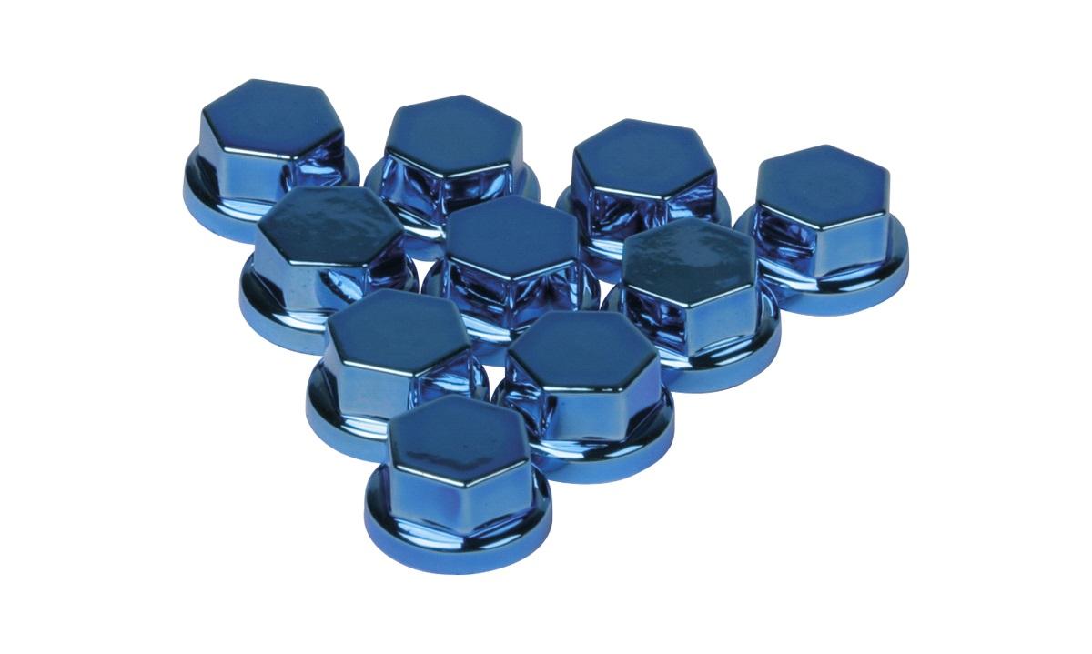 Covers, blå, 8 mm, 10 stk