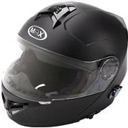 Flip-up hjelm m/bluetooth MAX V270 X-sma
