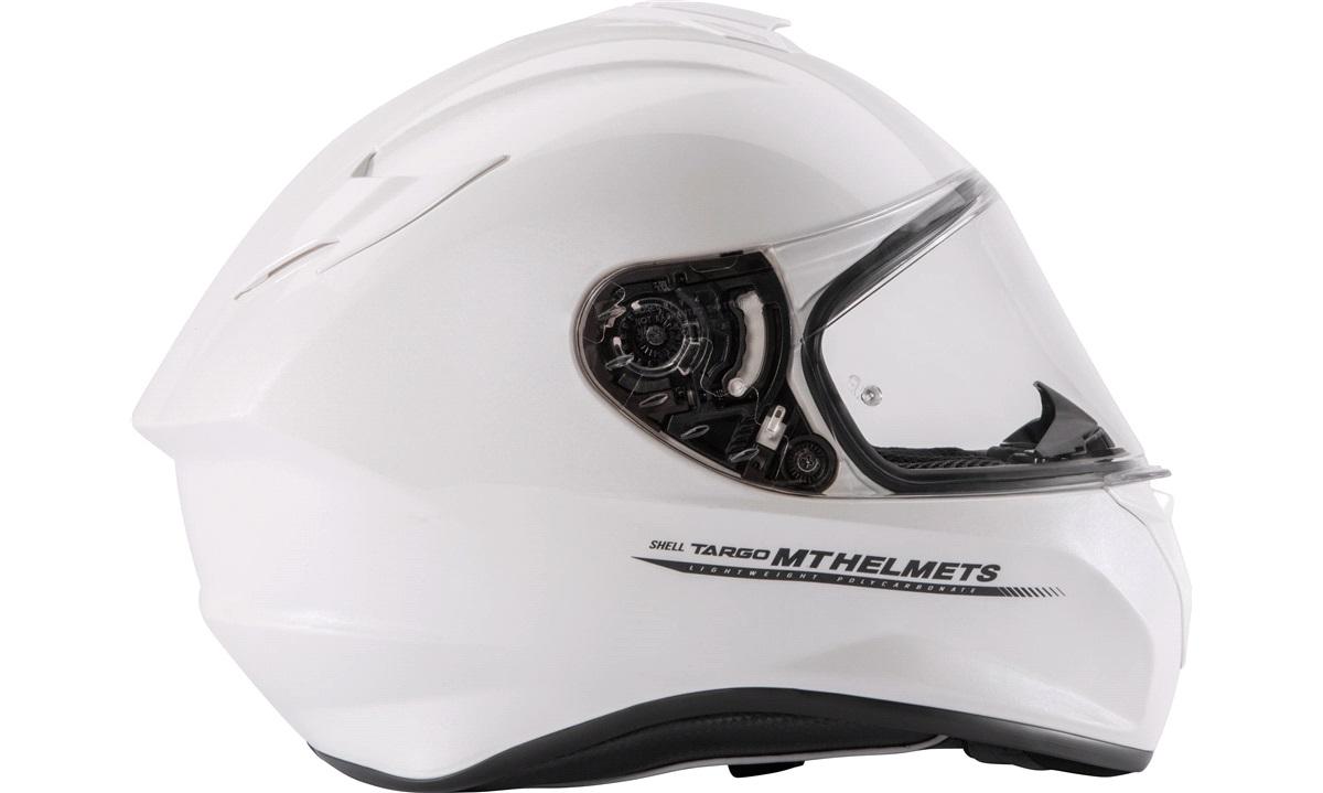 Styrthjelm MT Targo pearl white XL