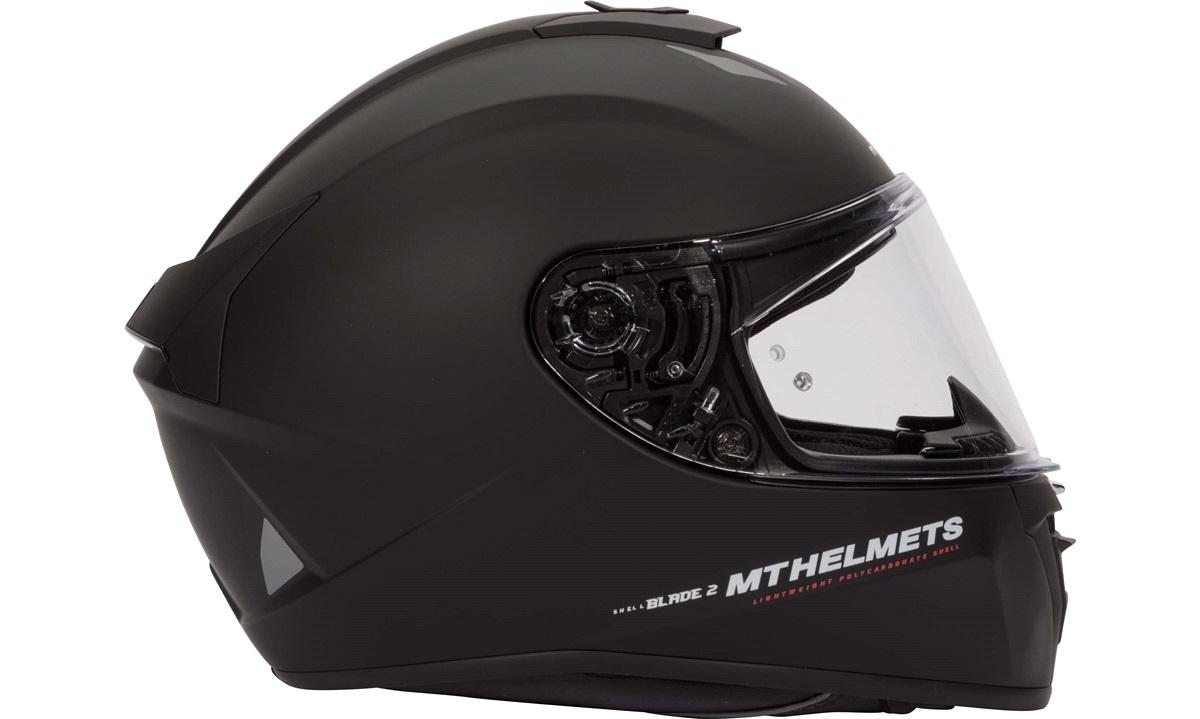 Styrthjelm fullface m/solbrille MT Blade2 SV matsort str. XL